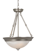 Craftmade X225-BN - 3 Light Inverted Pendant in Brushed Satin Nickel
