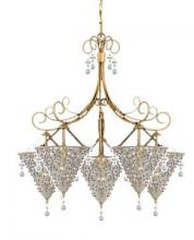 Crystorama 5915-BG-VIOLET - Six Light Burnished Gold Up Chandelier