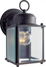 Forte 1005-01-32 - One Light Antique Bronze Clear Beveled  Panels Glass Wall Lantern