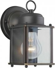 Forte 1005-14 - One Light Royal Bronze Clear Beveled  Panels Glass Wall Lantern