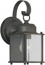 Forte 1047-01-14 - One Light Royal Bronze Clear Beveled  Panels Glass Wall Lantern