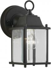 Forte 1705-01-04 - One Light Black Clear Beveled  Panels Glass Wall Lantern