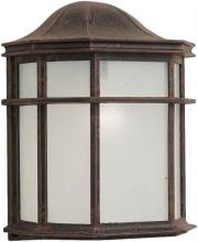 Forte 1719-01-28 - One Light Painted Rust White Acrylic Panel Glass Wall Lantern