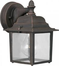 Forte 1745-01-28 - One Light Painted Rust Clear  Panels Glass Wall Lantern