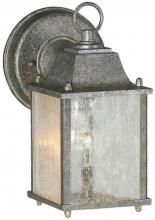 Forte 1755-01-59 - One Light River Rock Clear Seeded  Panels Glass Wall Lantern