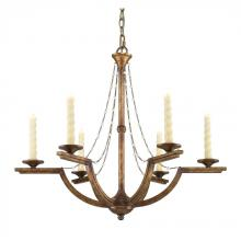 Golden 3071-6 GG - 6 Light Chandelier