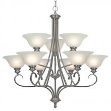 Golden 6005-9 PW - 2 Tier - 9 Light Chandelier