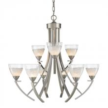 Golden 7509-9 PW - 9 Light Chandelier