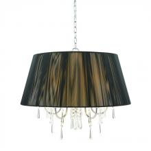 Golden 8201-5 BLK - 5 Light Chandelier