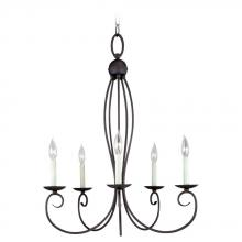 Sea Gull 31074-799 - Five Light Black Up Chandelier
