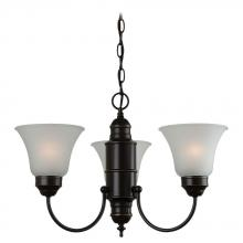 Sea Gull 31235-782 - Three Light Bronze Up Chandelier