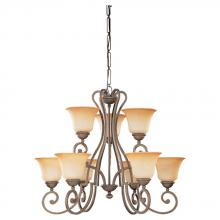 Sea Gull 39033BLE-71 - Nine Light Bronze Up Chandelier