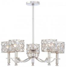 Minka Metropolitan n6754-613 - Polished Nickel Clear Crystal Accents Glass Up Chandelier