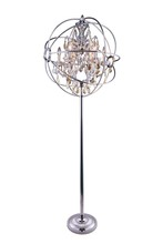 Elegant 1130FL24PN-GT/RC - 1130 Geneva Collection Floor Lamp D:24in H:71.5in Lt:6 Polished nickel Finish (Royal Cut Crystals)