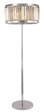 Elegant 1233FL25PN-GT/RC - 1233 Chelsea Collection Floor Lamp D:25in H:72in Lt:6 Polished nickel Finish (Royal Cut Crystals)