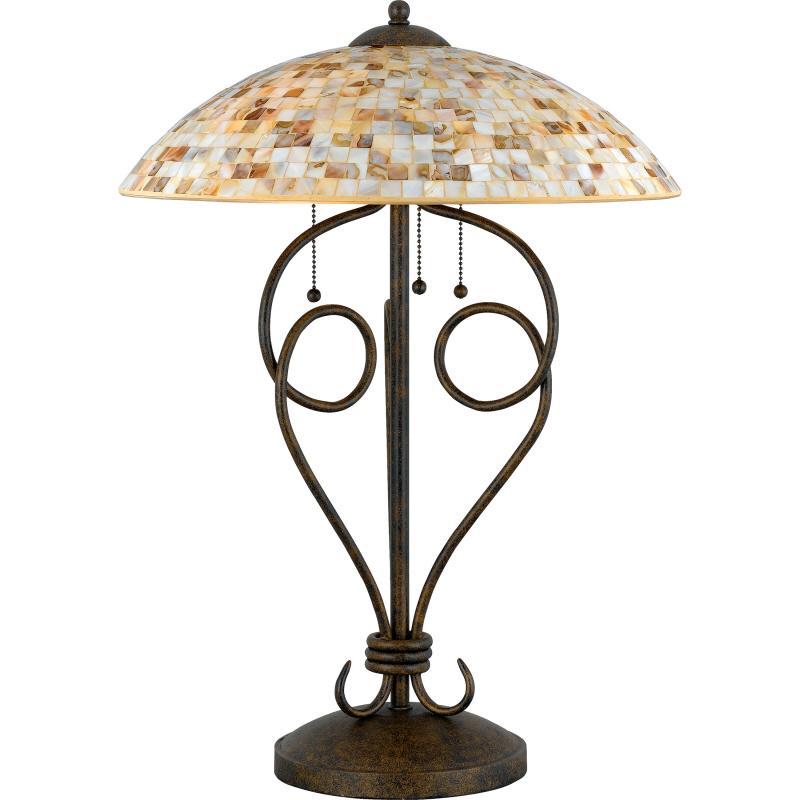 Monterey mosaic table lamp 6zae hansen lighting monterey mosaic table lamp aloadofball Images