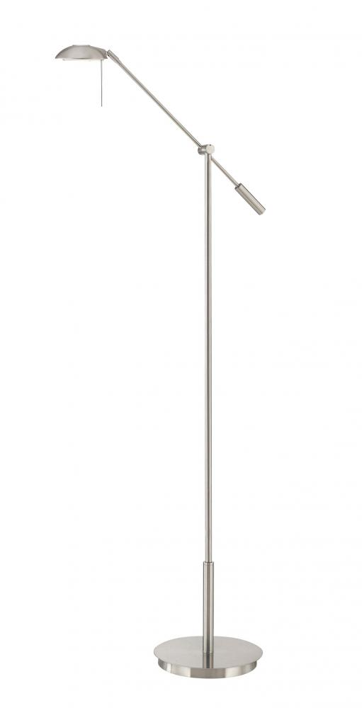 One light nickel brushed nickel floor lamp 59p2 hansen lighting one light nickel brushed nickel floor lamp aloadofball Gallery
